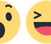 Search facebook reactions with google